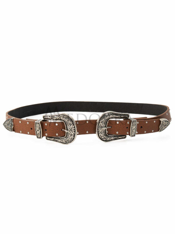 Brown belt with spikes 1