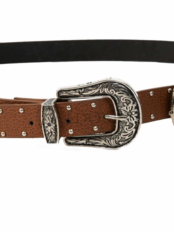 Brown belt with spikes 2