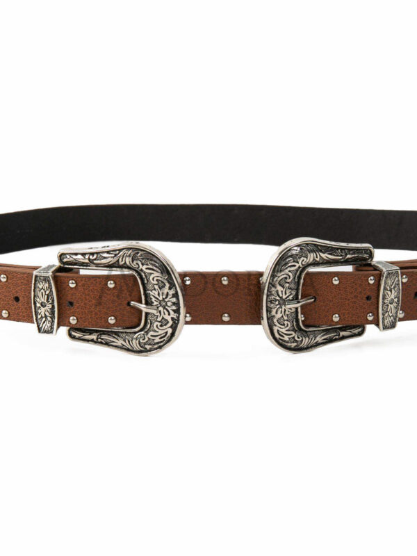 Brown belt with spikes 4