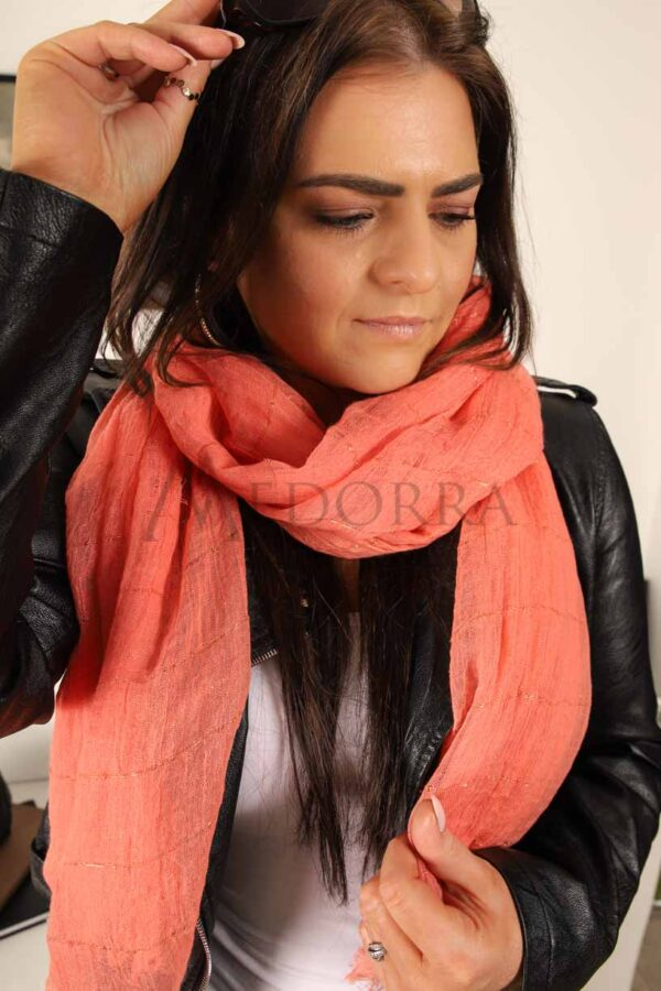 coral scarf 2